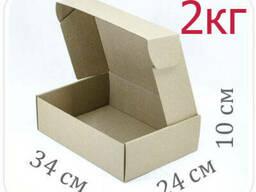 Коробка микрогофрокартон 34х24х10 см (2 кг)
