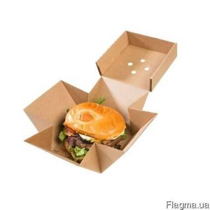 Коробка под гамбургер, бургер, фасфуд
