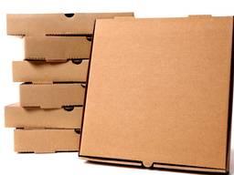 Коробка под пиццу 300*300*33 БУРЫЙ И БЕЛЫЙ ЦВЕТА