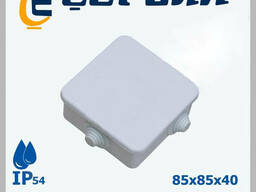 Коробка распр. квадратная 85х85 с крышкой КВ. 0355
