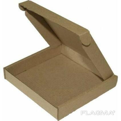 Коробка самосборная бурая 120x120x50, от 100 штук