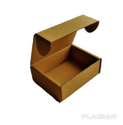 Коробка самосборная бурая 95x70x30