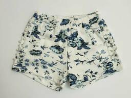 Короткие трикотажные шорты на резинке для девочки 12
