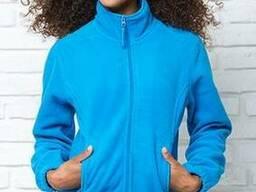 Куртка флисовая женская голубая