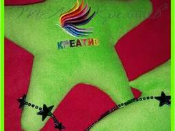 Корпоративные подушки игрушки с вашим логотипом под заказ (о