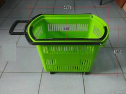 Продам Корзинка покупательская пластиковая на колесах 30 л