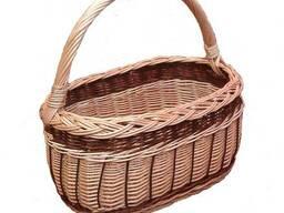 Корзинка плетеная из лозы для ягод 002-34