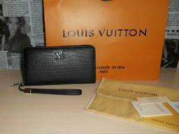 Кошелек клатч барсетка Louis Vuitton, кожа, Франция