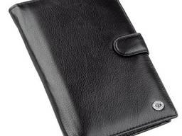 Кошелек-визитница для мужчин ST Leather Черный, Черный. ..