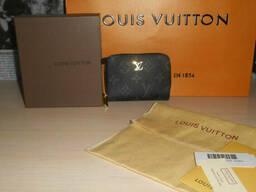 Кошелек, визитница, картхолдер Louis Vuitton, кожа, Франция