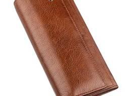 Кошелек-визитница на кнопке ST Leather Коричневый. ..