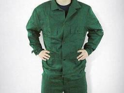 Костюм рабочий 100% хб, мужской, зеленый, куртка и брюки