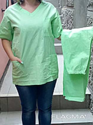 Костюм хирурга, костюм пекаря (бязь белая, цветная)