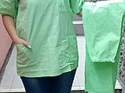 Костюм хирурга, костюм пекаря (бязь белая, цветная) - фото 1