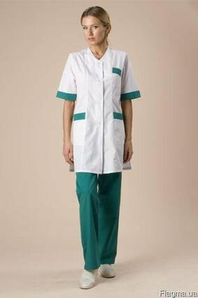 Костюм медицинский, для сферы обслуживания, куртка, брюки