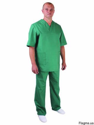 Костюм медицинский, пекарский куртка и брюки мужской