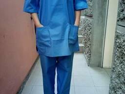 Хирургический костюм(куртка, брюки, колпак) пошив под заказ