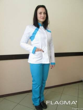 Костюм медицинский женский с брюками пошив медицинской одежды