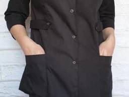 Костюм медицинский женский ткань батист черный
