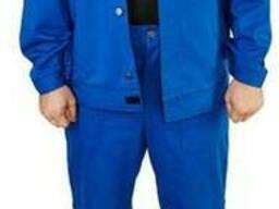 """Костюм модельный """"евро"""" с курткой, тк. Саржа, василёк"""