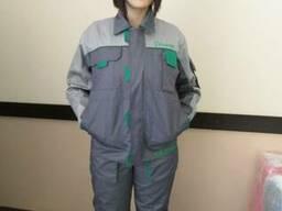 Костюм мужской, куртка с полукомбинезоном для механиков