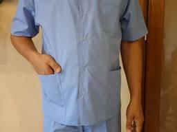Костюм мужской медицинский серо-голубой