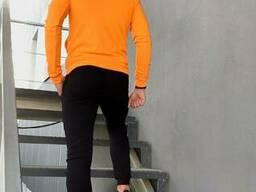 Костюм мужской спортивный Cosmo Intruder оранжевый черный Кофта толстовка + штаны