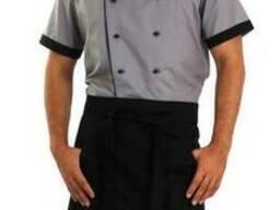 Костюм мужской суши-повара: китель, брюки, фартук, шапка