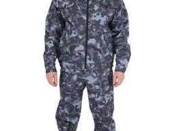 Костюм охранника синий камуфляж. Охранная форма
