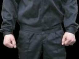 Костюм охранника черный на молнии мужской