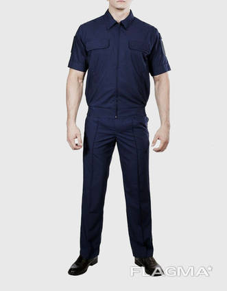 Костюм охранника 'Плаза' (куртка брюки) цвет тёмно синий.