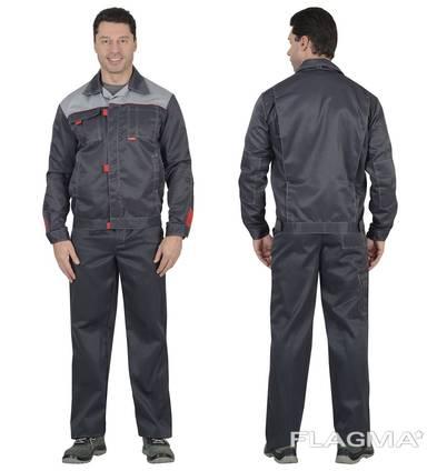 Костюм охранника 'Плаза' (куртка брюки) цвет тёмно серый.