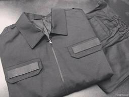 Костюм охранника серый ткань рип-стоп, пошив под заказ