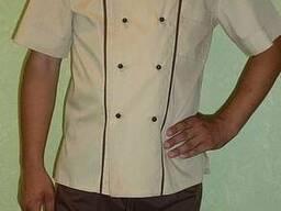Костюм повара бежево-коричневый