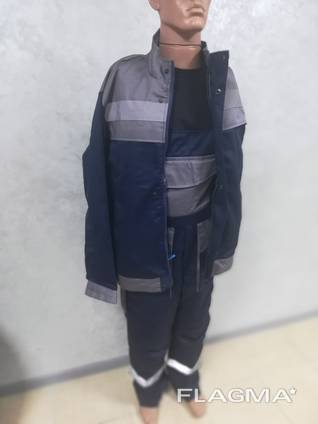 Костюм рабочий Инженер куртка полукомбинезон ткань саржа