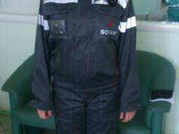 Костюм рабочий:куртка, полукомбинезон, мужской, женский
