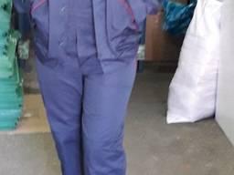 Костюм рабочий куртка с полукомбинезоном ткань грета ЧШК