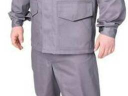 Костюм рабочий летний «Инженер» (саржа 35%, серый с черным)