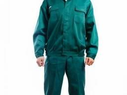 Костюм рабочий зеленый с притачным поясом