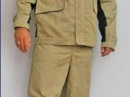 Костюм рабочий мужской, куртка и брюки, спецодежда