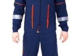 Костюм рабочий мужской куртка полукомбинезон с СВП