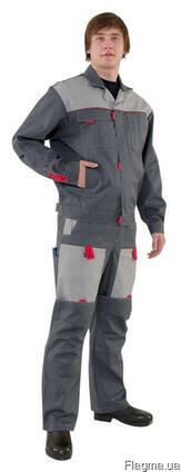Костюм рабочий полукомбинезон и куртка мужской или женский