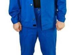 Костюм рабочий с брюками 100% хлопок синий
