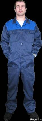 Костюм рабочий, грета с голубой кокеткой