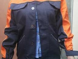 Костюм рабочий серо-оранжевый(куртка и брюки)