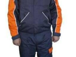 Костюм рабочий серый куртка с брюками, ткань саржа