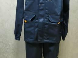 Костюм рабочий синий куртка брюки ткань грета ЧШК