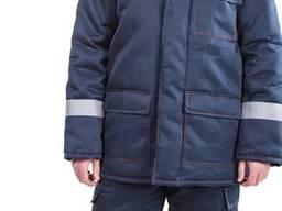 Костюм рабочий утепленный Эверест с полукомбинезоном