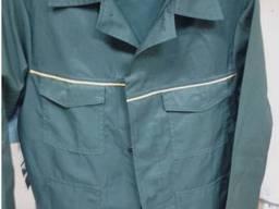 Костюм рабочий зеленый куртка брюки ткань грета