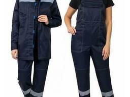 Костюм рабочий женский с полукомбинезоном, пошив рабочих костюмов